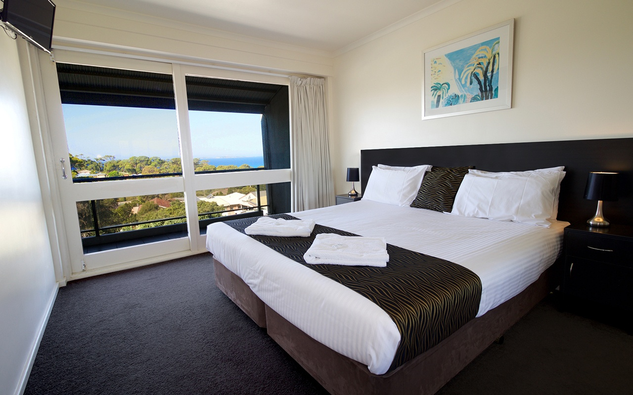 Horizon Holiday Apartments 1 Bedroom Ocean View Top Level Apartment Bedroom