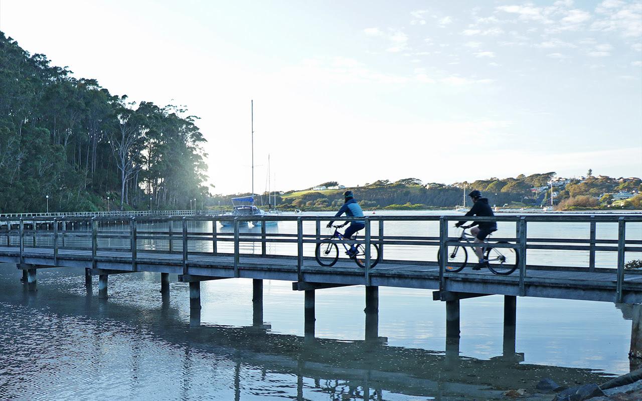 Biking path in Narooma